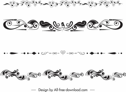 border decorative templates elegant classical symmetric repeating shapes