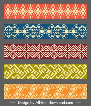 border decorative templates seamless repeating symmetric design