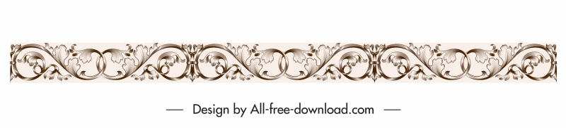border design element elegant vintage seamless curves decor