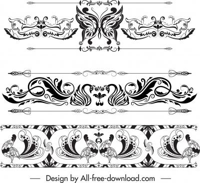 border design elements elegant retro symmetric european design