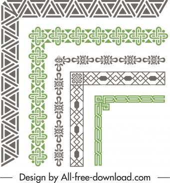 border elements templates elegant classic flat repeating symmetry
