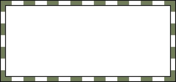Border Green And White clip art