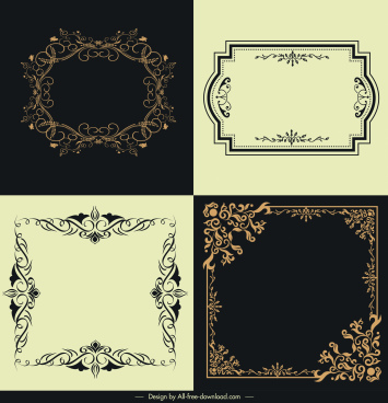 border templates classical design elegant symmetric ornament