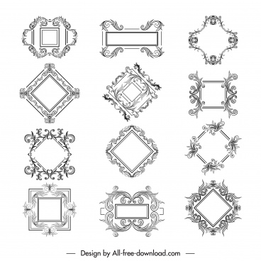 border templates elegant symmetrical decor