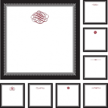 certificate decorative templates classic decor blank sketch