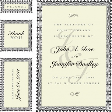 wedding templates elegant classical border decor