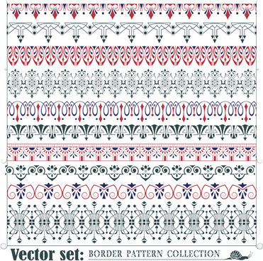 borders ornaments pattern vector set