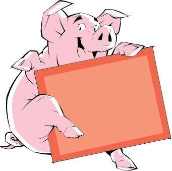 borders vector cartoon pig