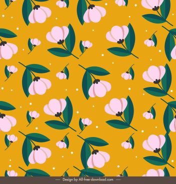 botanical pattern template colored repeating classic design