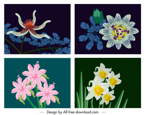 botany background templates colorful classical design