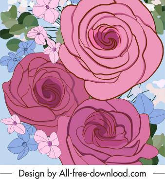 botany painting classical closeup design handdrawn sketch