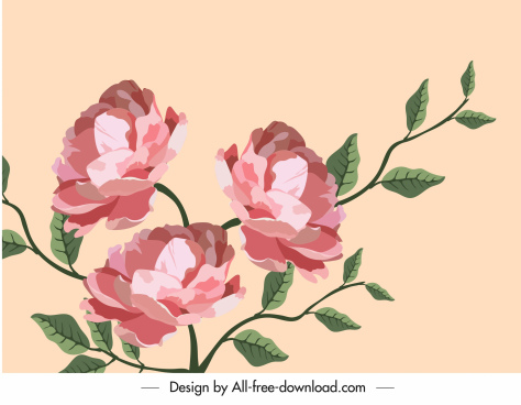 botany painting colored classical decor