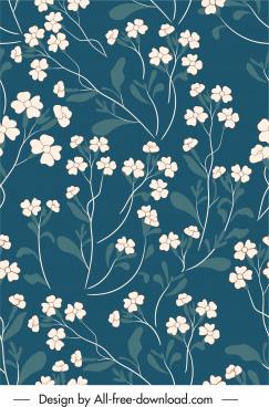 botany pattern template elegant classical design