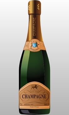 Bottle Of Champagne clip art
