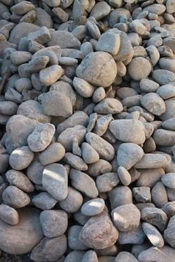 boulders close-up pebbles