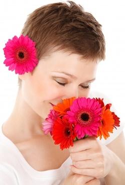 bouquet beauty face