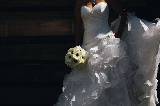 bouquet bridal bride couple dress event fashion