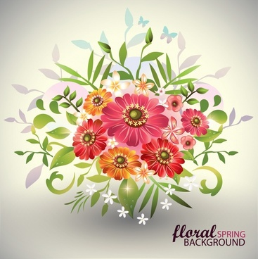 floral background modern shiny colorful petals decor