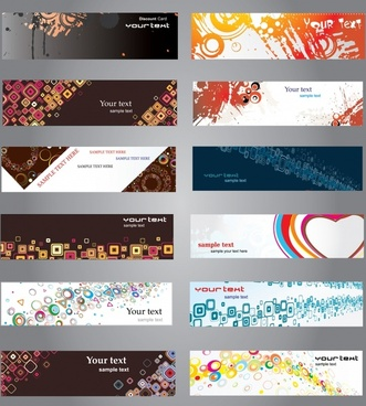 boutique cards bookmarks vector