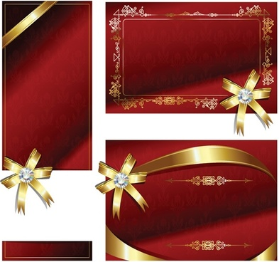 bow ribbon card vector