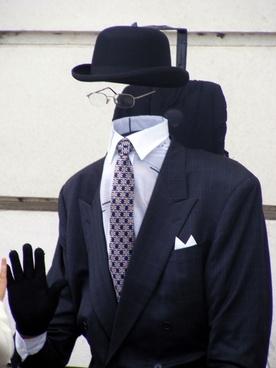 bowler glasses suit
