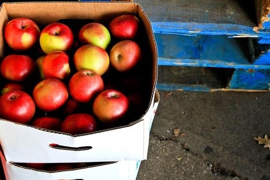box of apples