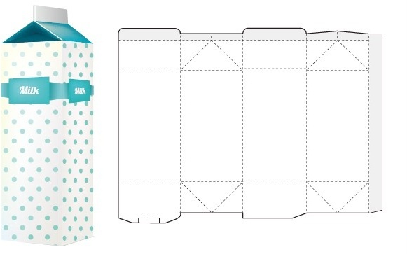 box packaging template vector
