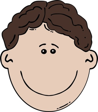 Boy Face Cartoon clip art