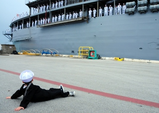 boy navy suit pier