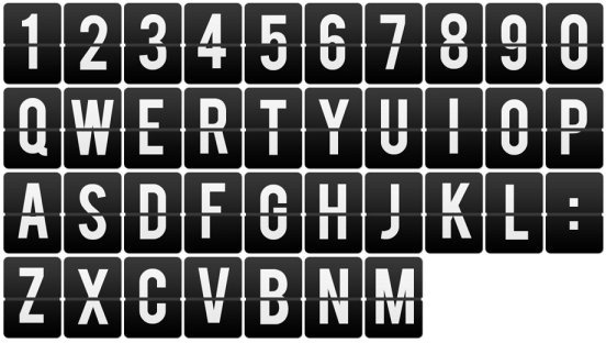 brand of numbers and letters psd layered