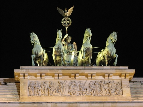 brandenburg gate berlin berlin at night