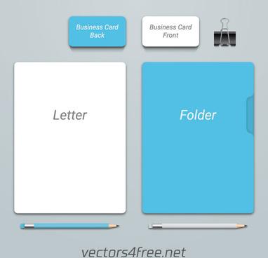 branding identity mockup vector