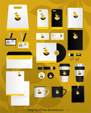 branding identity sets lemon cut logo decor