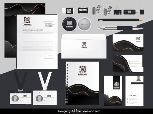 branding identity sets modern contrast symmetric circle logotype