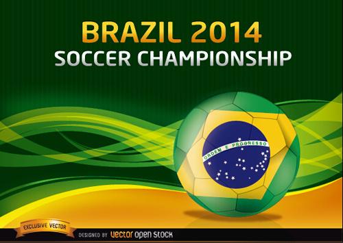 brazil14 soccer championship background vector