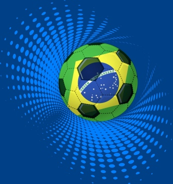 brazil background ball flag icons 3d twist decor