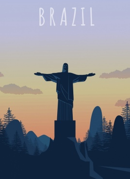 brazil background christ statue landscape decor