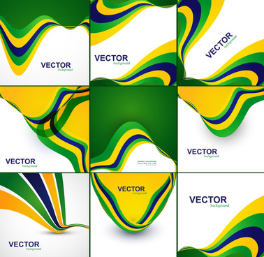 brazil flag concept beautiful collection creative business wave presentation vector background