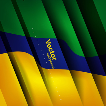 brazil flag concept colorful stylish wave vector background illustration