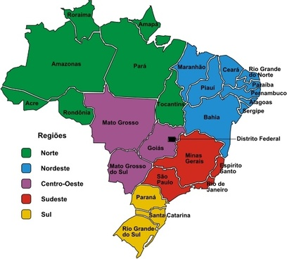 Brazil map vector free vector download 2560 free vector for brazil in regions portuguese gumiabroncs Image collections