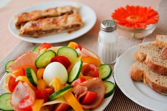 bread breakfast cucumber