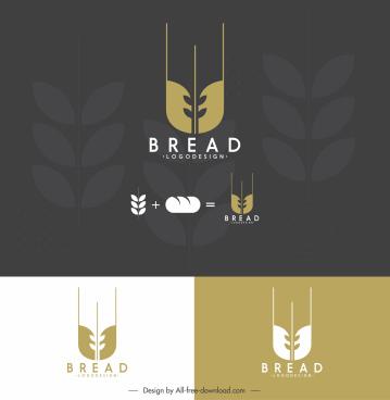 bread logotype flat wheat sketch