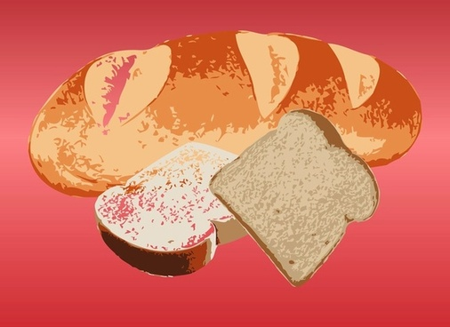 bread vector food vector art