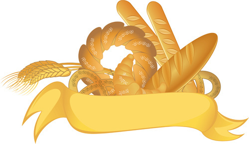 bread with wheat vector