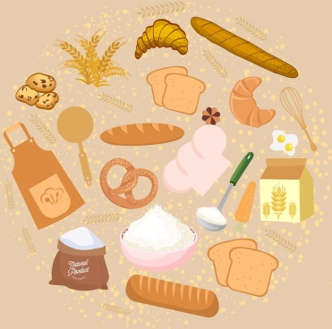 bread work design elements classical colored design