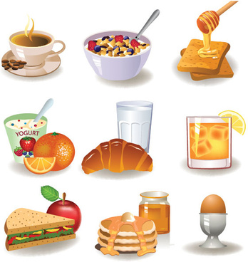 breakfast vector graphics food collections