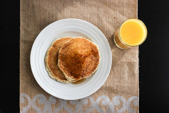 breakfast with pancakes 038 orange juice