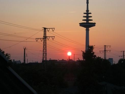 bremen sunset afterglow
