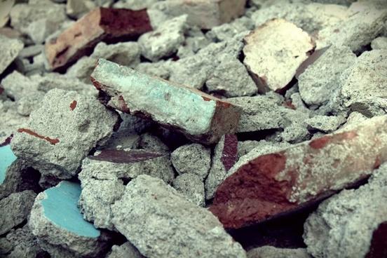 brick rubble debris