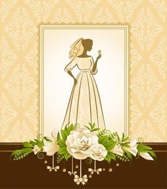 bridal silhouette vector